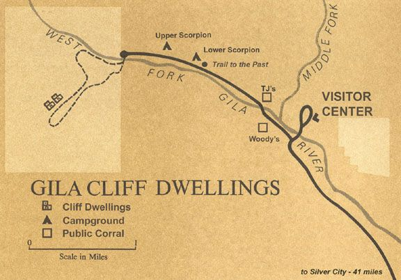maps gila cliff dwellings national monument us national park