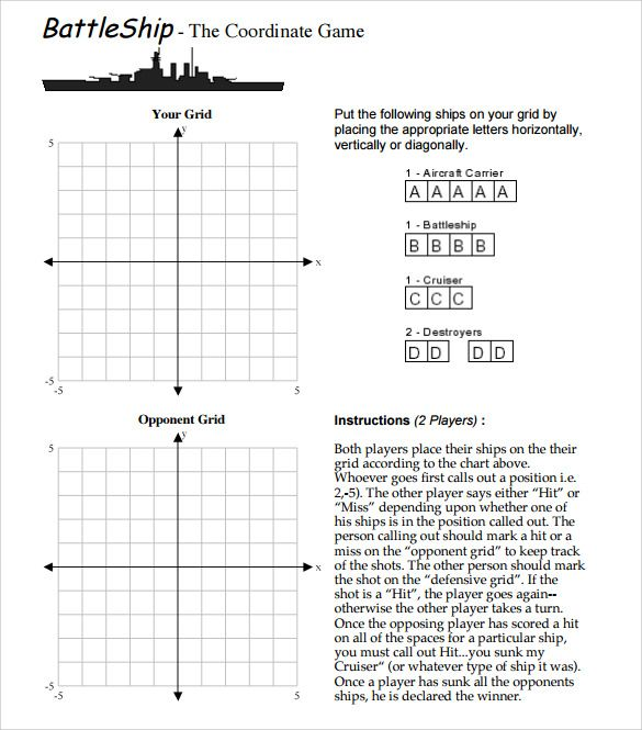 Pin by Charlene Swanson on Maths Pinterest Battleship, Template