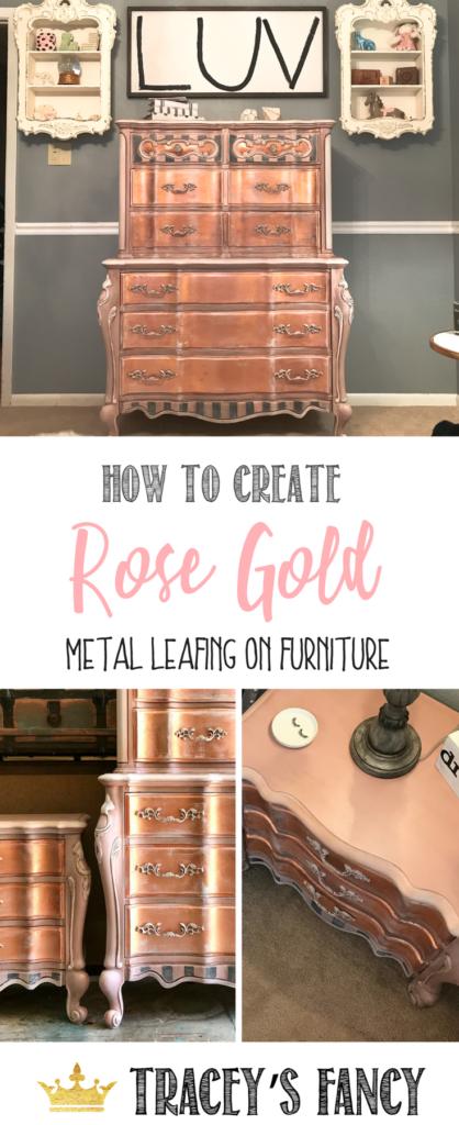 Paint Rose Gold Metallic Furniture