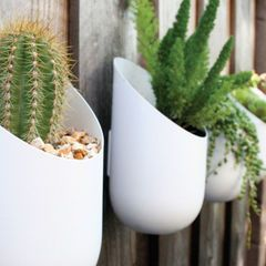 contemporary outdoor planters by walter backyard pinterest rh pinterest com Large Outdoor Planter Pots Modern Planters