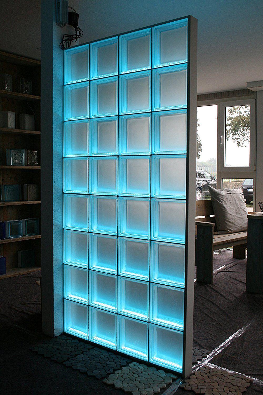 Light My Wall Duschabtrennung Aus Glasbausteinen Mit Integrierter Beleuchtung Decoracion De Banos Modernos Modelos De Banos Pequenos Techo De Vidrio