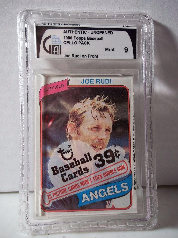 1980 Topps Baseball Wax Cello Pack GAI Mint 9 MLB