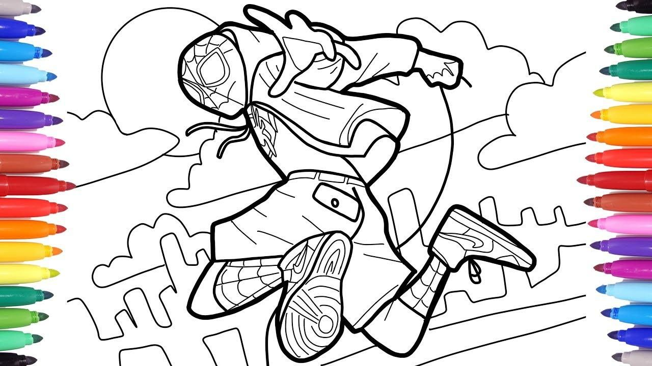Awesome Spider Man Into The Spider Verse Coloring Pages