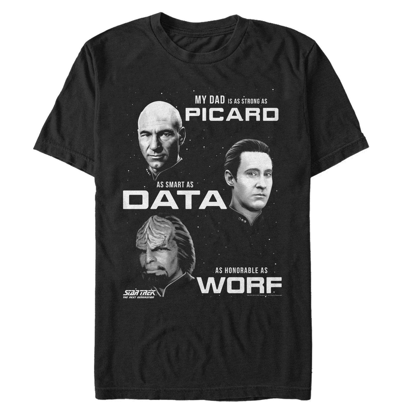 Star Trek Men's Next Generation Dad Qualities T-Shirt