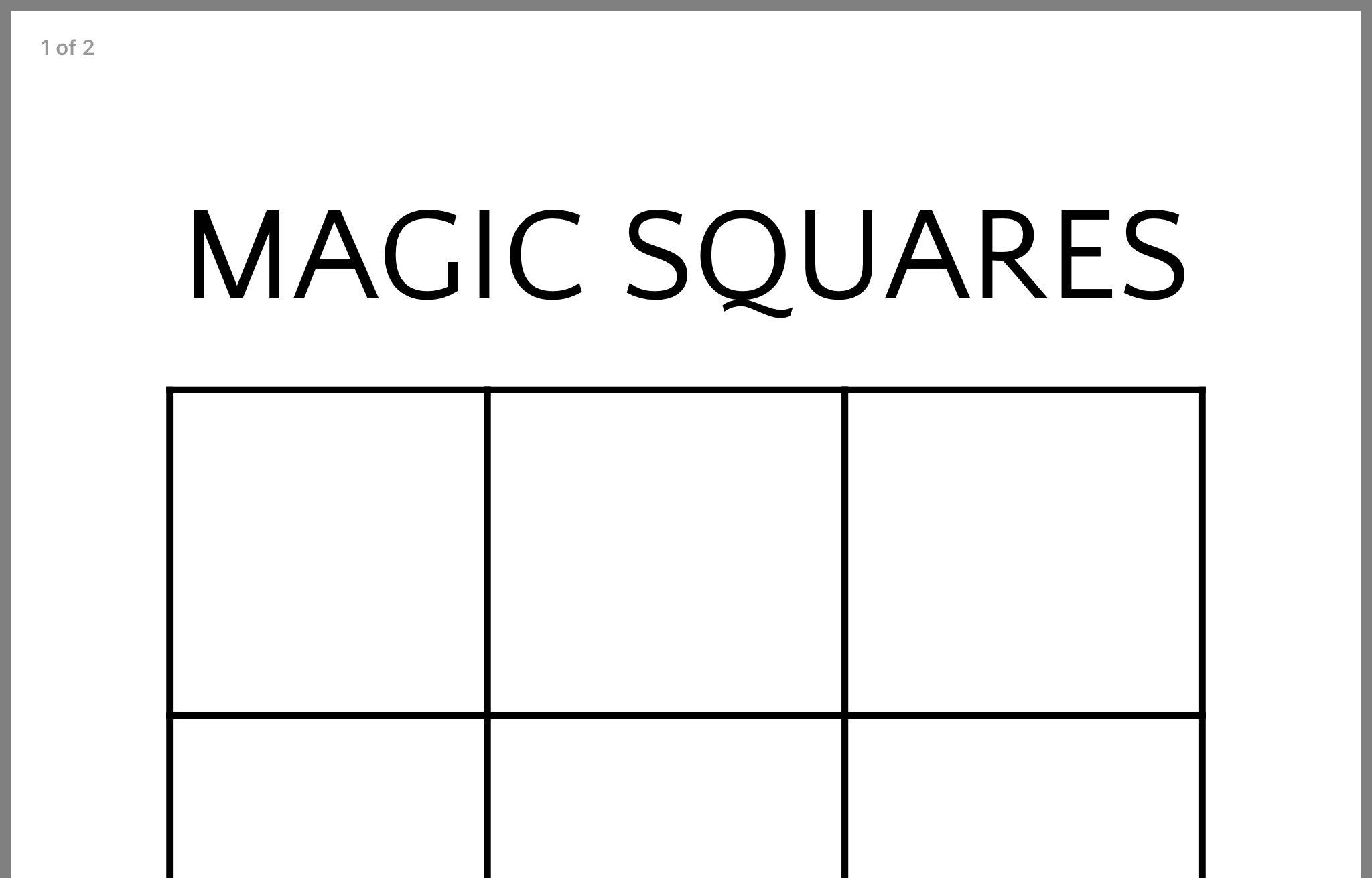 Pin By Myranda Sabourin On Math Math Magic Squares Math Equations