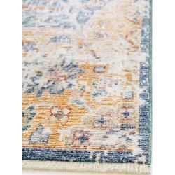 Photo of benuta Naturals viscose carpet Yuma Multicolor / Blue 200×300 cm – Vintage carpet in used look benuta.