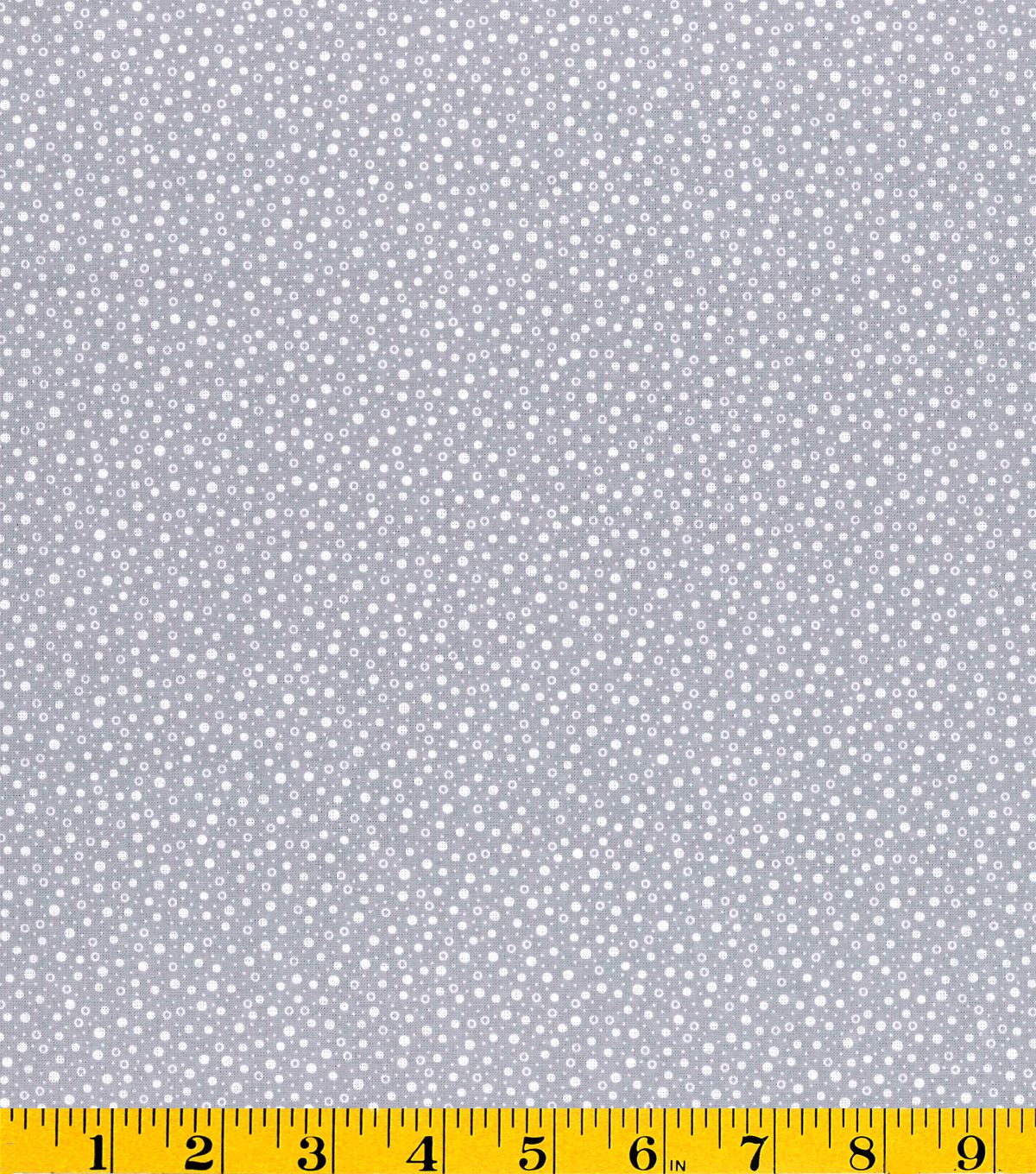 Creating New Traditions- Made in America Dot Grey Fabric, , hi-res