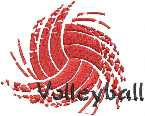 Sport Volleyball Embroidery Design Volleyball Designs Volleyball Volleyball Silhouette