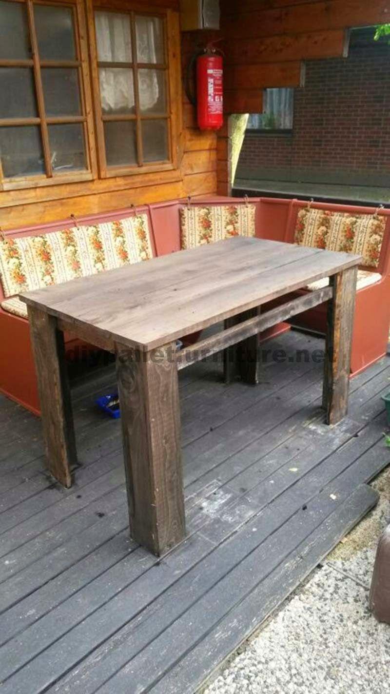 Muebles de palets planos para hacer una mesa con tablas - Mueble con palet ...