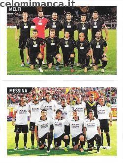 Calciatori 2015-2016: Fronte Figurina n. 865 Squadra Melfi - Squadra Messina