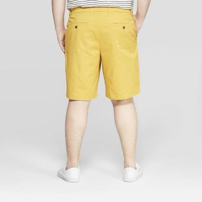 3a08d1cbeb Men's Big & Tall 10.5 Chino Shorts - Goodfellow & Co Mineral Yellow ...