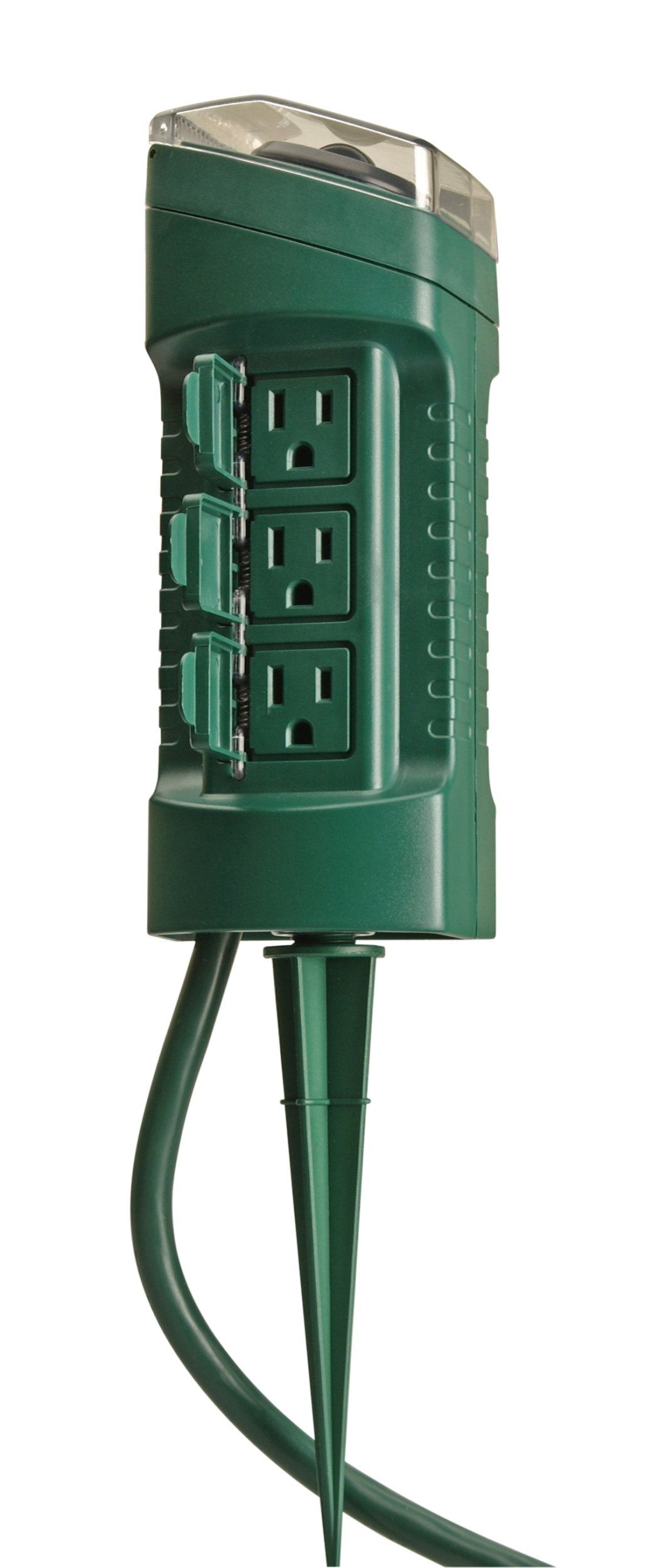 Yard Master 13547 6 Outlet Power Stake With Light Sensor And 6 Foot Cord Outdo Christmas Light Installation Outdoor Christmas Lights Christmas Lights Outside
