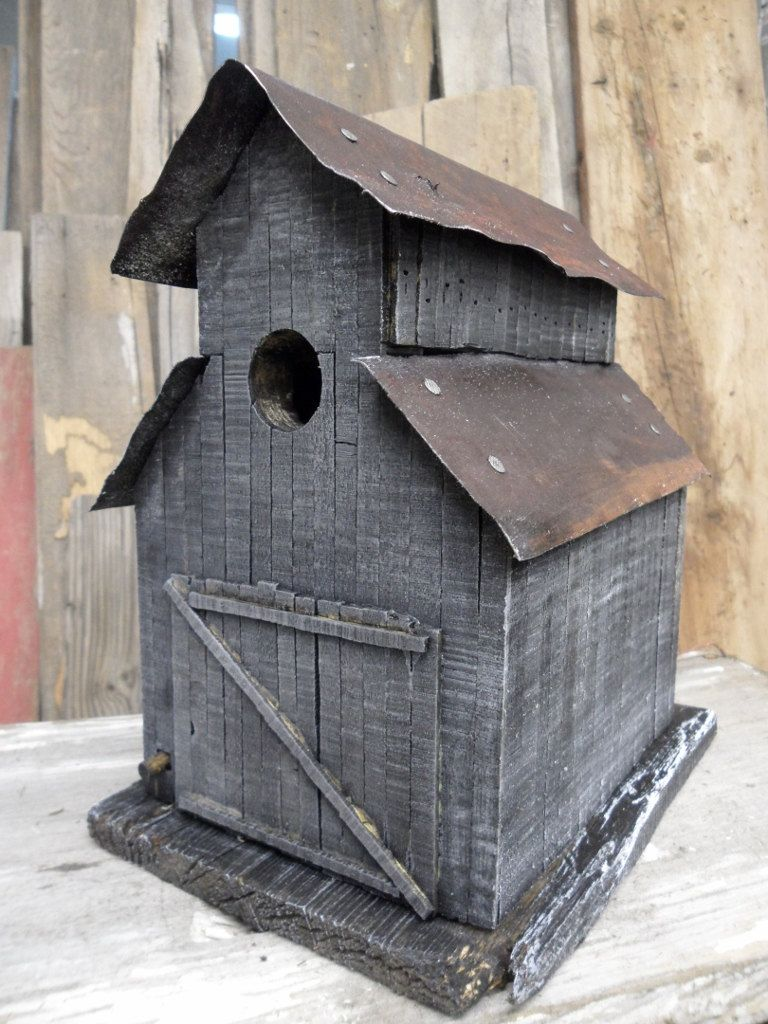 Barn Birdhouse Made Like An Old Stable Rustic Look And