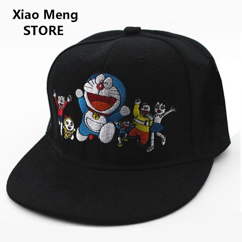 b8d4d9708de371 2017 New Japanese Anime Embroidery Doraemon Baseball Caps Boys Girls  DORAEMON Snapback Hat Children Adjustable Hip-Hop Hats M91. Yesterday's  price: US $9.21 ...