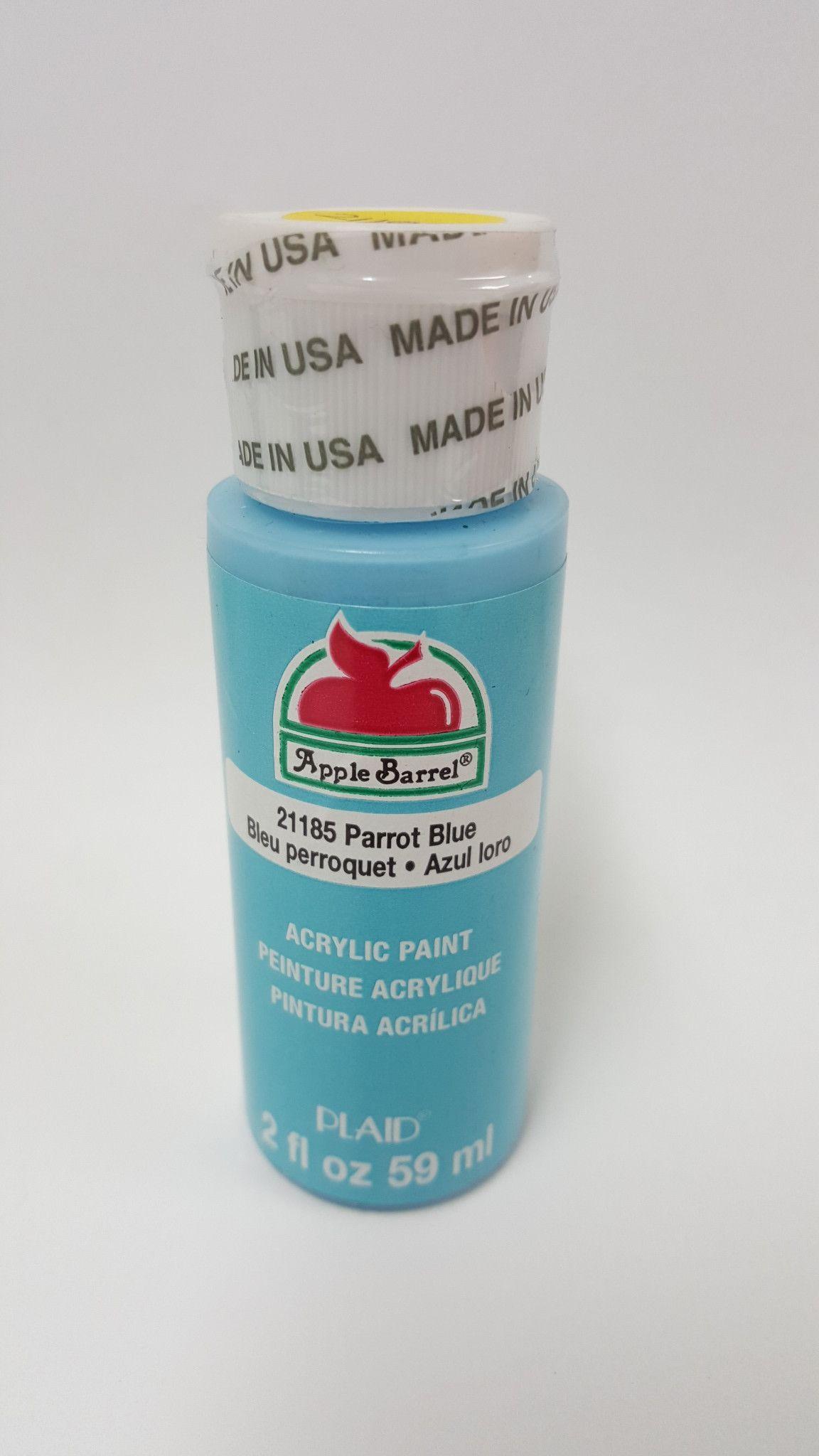 Apple Barrel 21185 Parrot Blue Acrylic Paint 2 fl oz