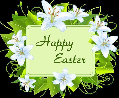 Happy Easter Note With Flowers Easter Easter Quotes Easter Images