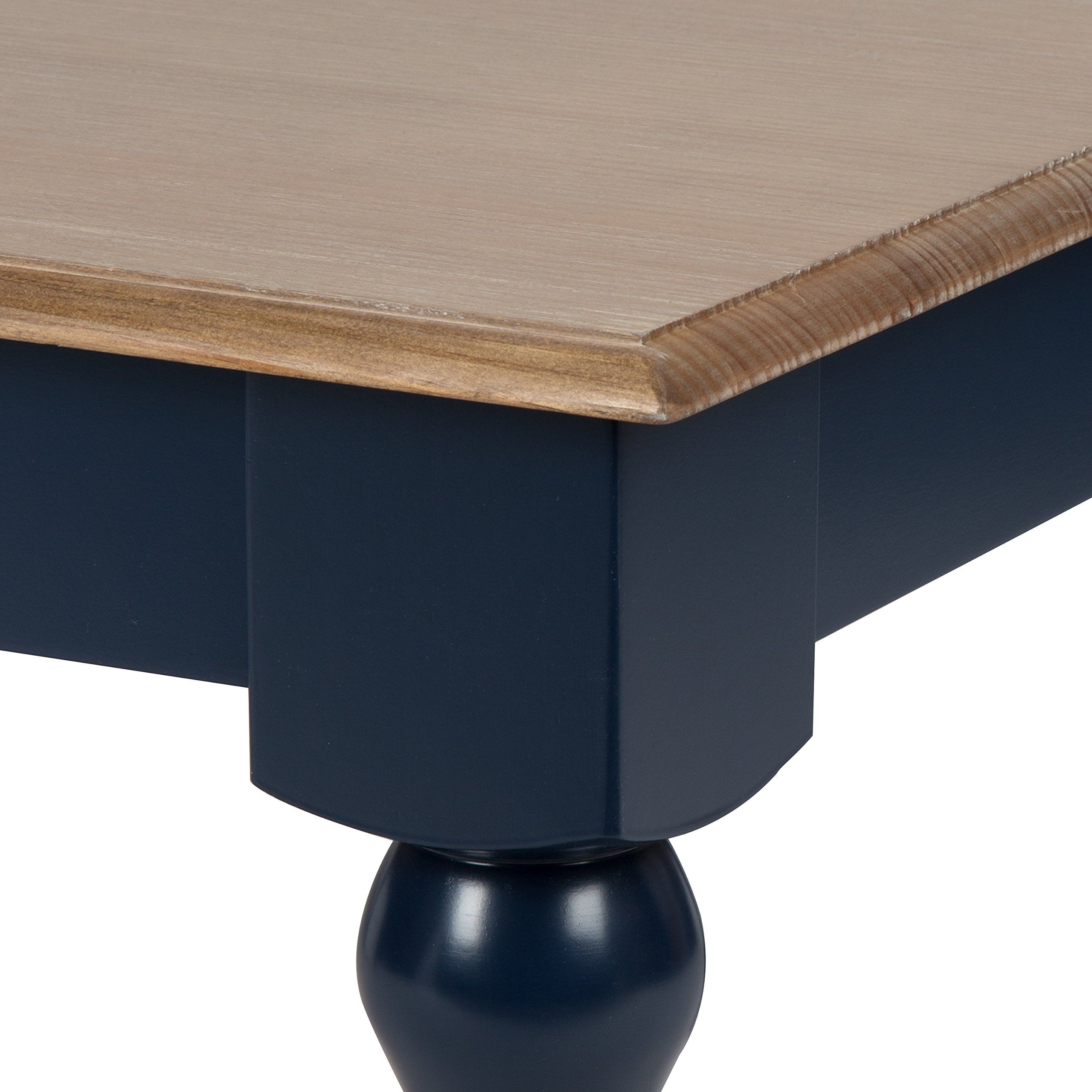 Kate And Laurel Sophia Rustic Wood Top Coffee Table Navy Blue