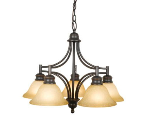 129 bristol 5 light 23 oil rubbed bronze indoor chandelier at menards
