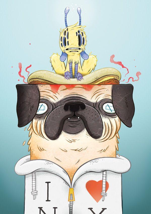 Men In Black Fan Art 8 Geek Art Pug Illustration Art