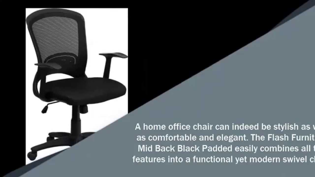 Flash Furniture Mid Back Black Padded Reviews A Home Office Chair Can  Indeed Be Stylish As