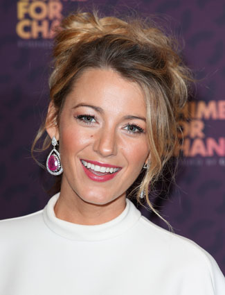 Blake Lively's loosely braided updo
