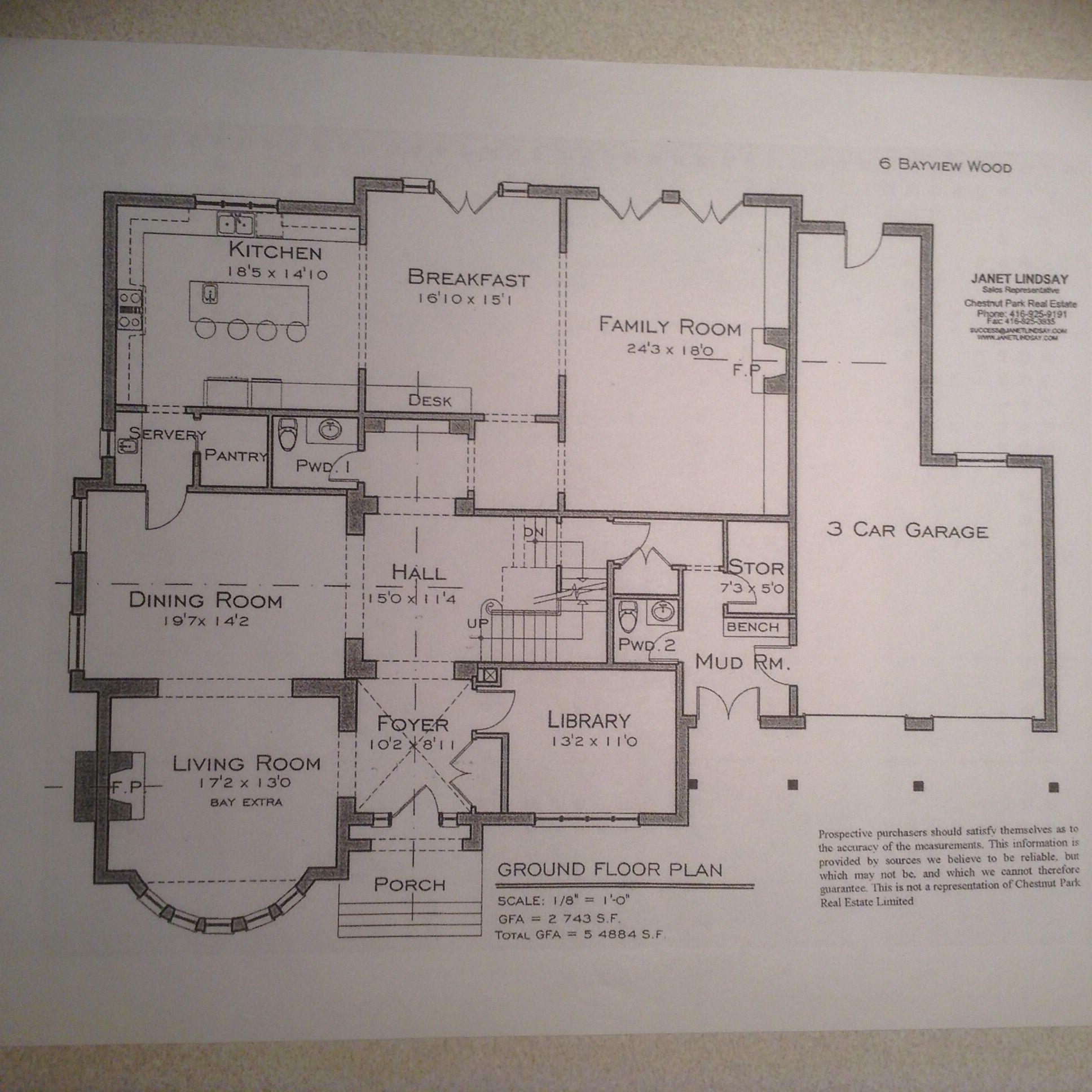 6 Bayview Wood Toronto On Floor Plans Ground Floor Plan Modern House Plans