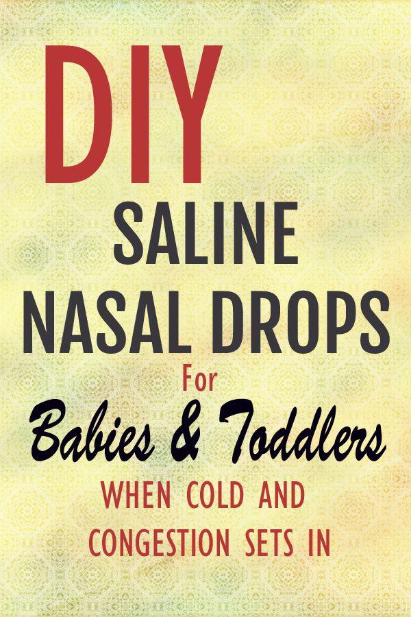Diy Saline Nasal Drops For Babies Amp Toddlers All Natural
