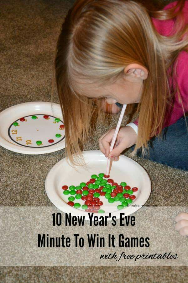 Fun minute to win it games for kids | Kids new years eve ...