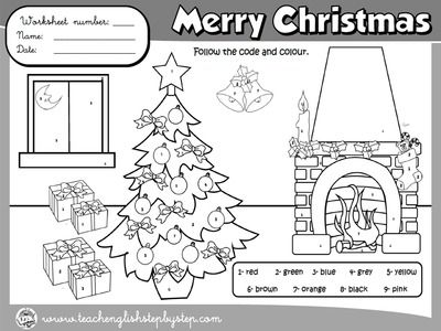 christmas colouring worksheet bw version coloring worksheets esl christmas coloring