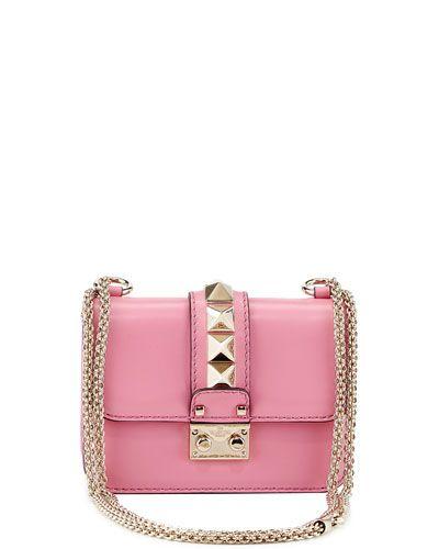 c783dd85efe Valentino Lock Micro Mini Shoulder Bag, Pink | Handbags | Shoulder ...