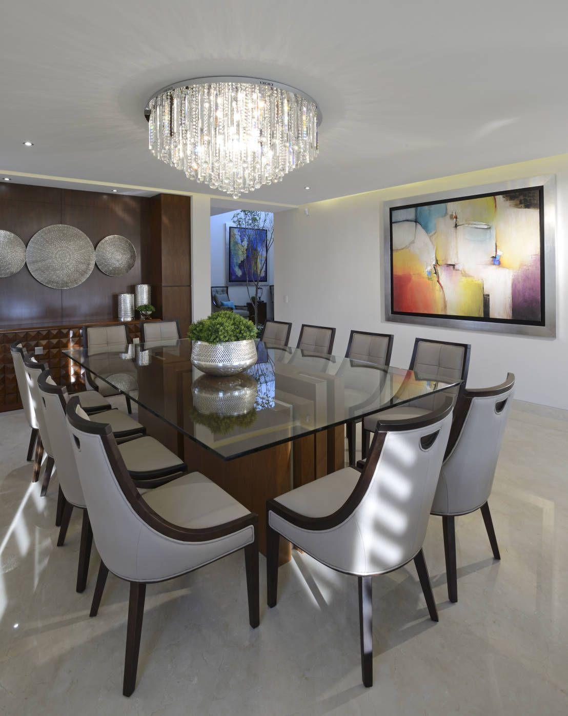 Una casa elegante ¡y muy hermosa! | COMEDOR | Dining room lighting ...
