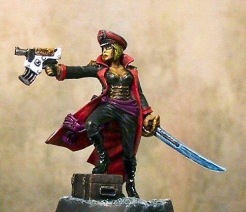 Female Commissar, Imperial Commissar, Imperial Guard, Viktoria Skivlana |  Model paint, Wargaming, Warhammer 40000