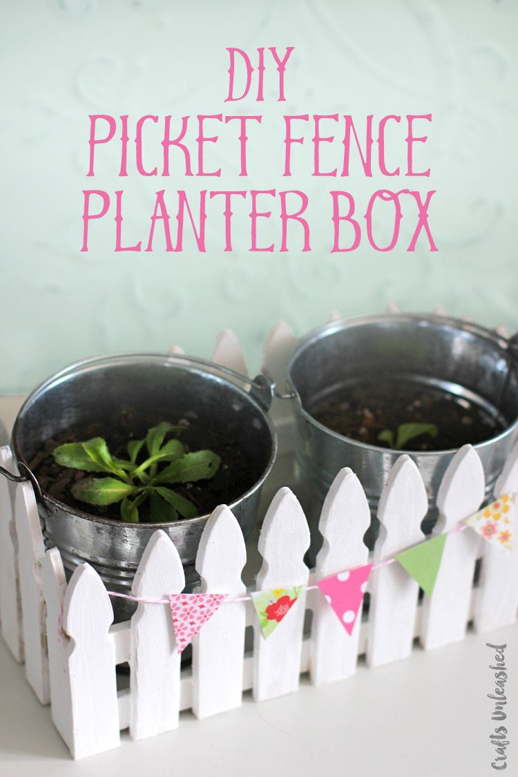 Make Mom A Super Cute And Functional Gift With This Mini Picket Fence Planter Box Idea