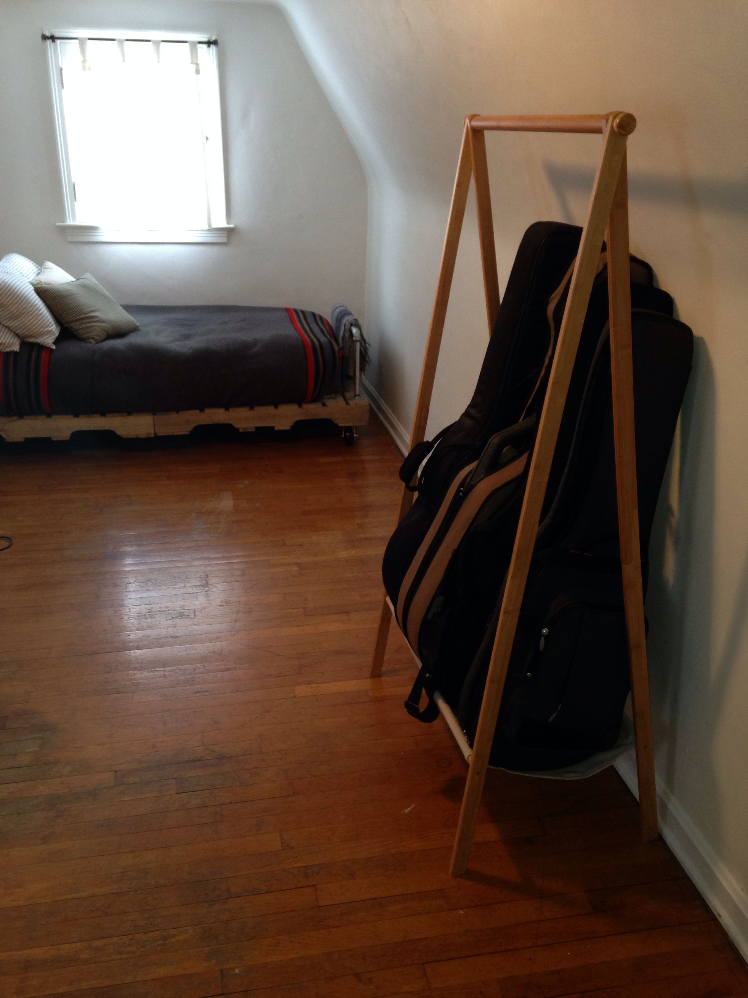 Target Clothes Hanger Used Guitar Rack. Works Great