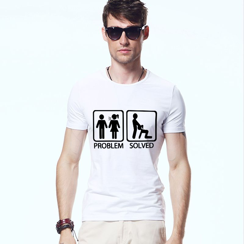 Top Quality Funny Mens Clothing Problem Solved Electric Model S