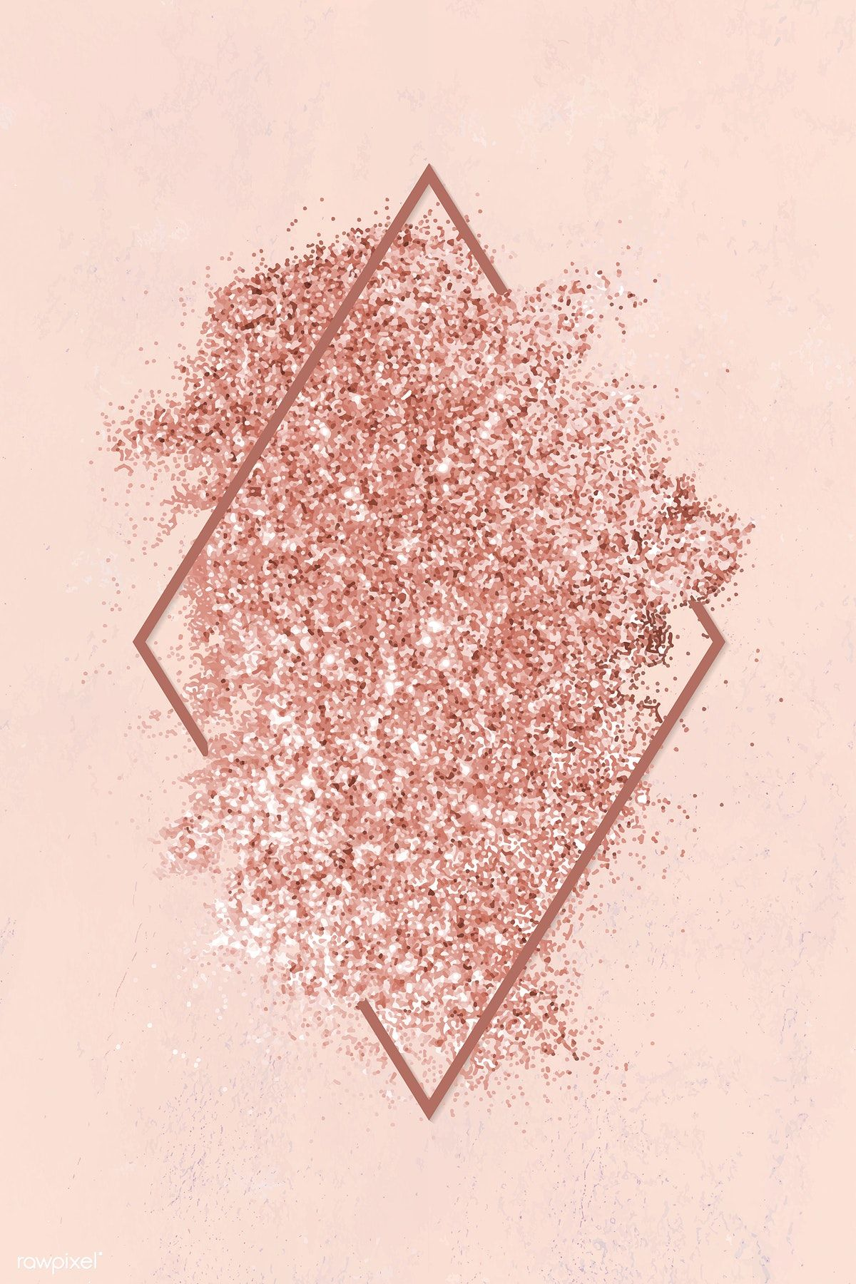 9bb41fc7e0f3 Pink gold glitter with a brownish red rhombus frame on a pastel pink  background vector