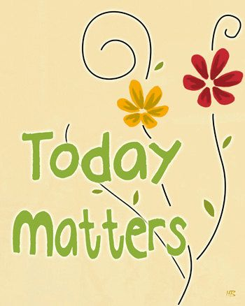 Inspiring art positive words wall art today matters by HoneyBoo ...