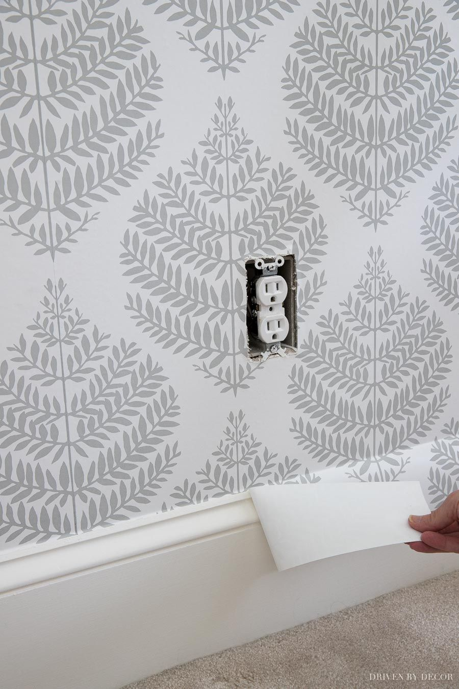Peel Stick Wallpaper How My First Project With It Turned Out Your Questions Answered Driven By Decor Driven By Decor Peel And Stick Wallpaper Vinyl Wall Decals