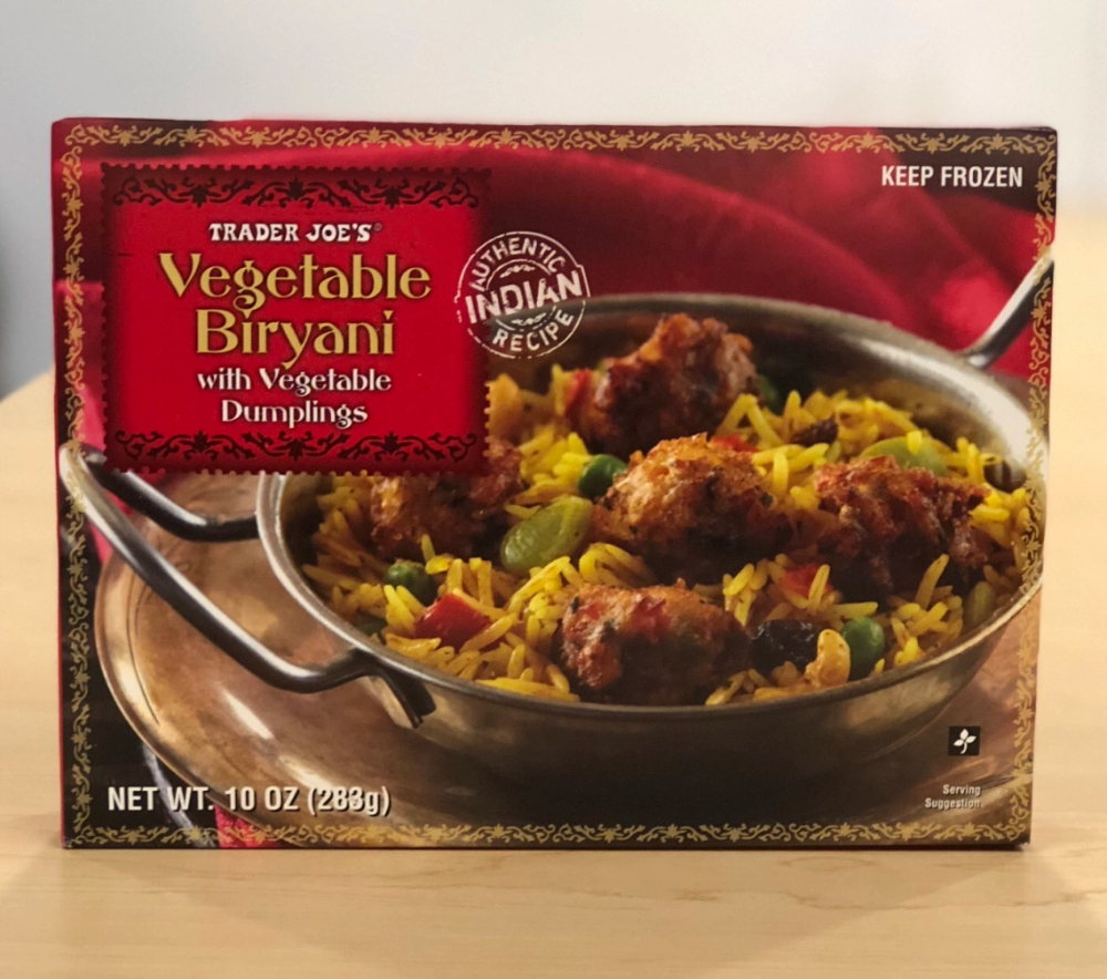 Review Trader Joe S Vegetable Biryani With Vegetable Dumplings Vegetable Dumplings Biryani Biryani Vegetable