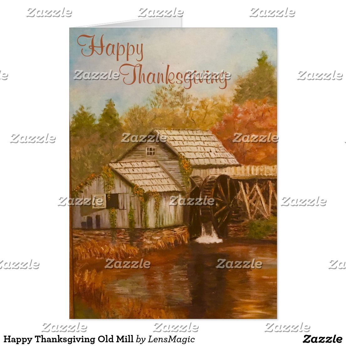 Happy Thanksgiving Old Mill Card Happy Thanksgiving Milling And