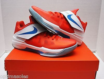 various colors ccded 077c5 Nike KD IV 4 Creamsicle Size 11 - Orange White Blue - Galaxy - 473679 800