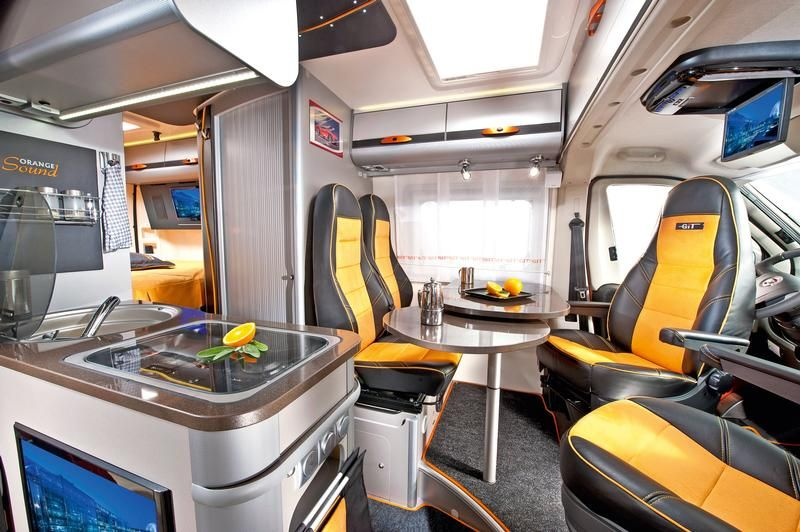 Adria Twin Gt Campervan Interior Built On A Fiat Ducato Chassis