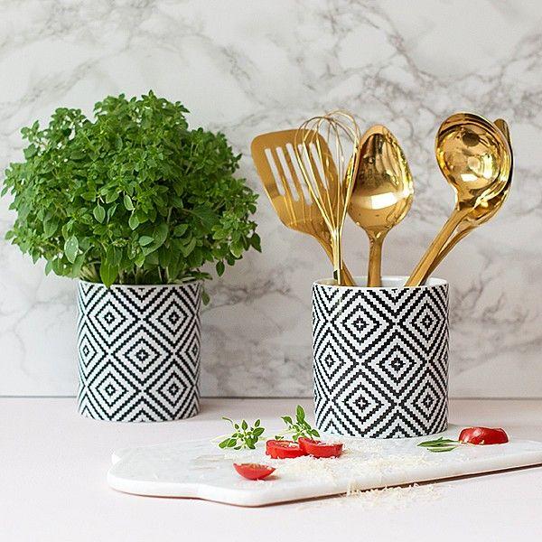 Monochrome Utensil Pot | Audenza Kitchen