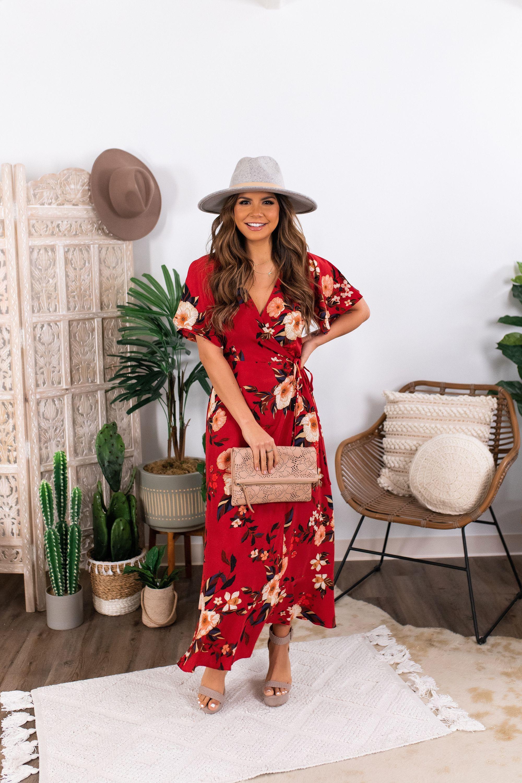 Sadie Sage Circa 75 Wrap Maxi Red Floral Print Maxi Dress Floral Print Maxi Nice Dresses [ 3000 x 2000 Pixel ]
