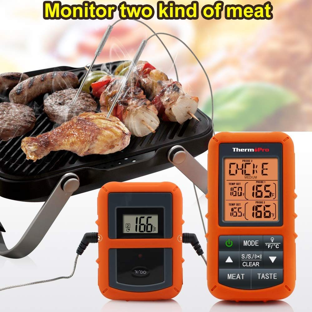 Wireless Remote Digital Cooking Food Meat Thermometer With Images