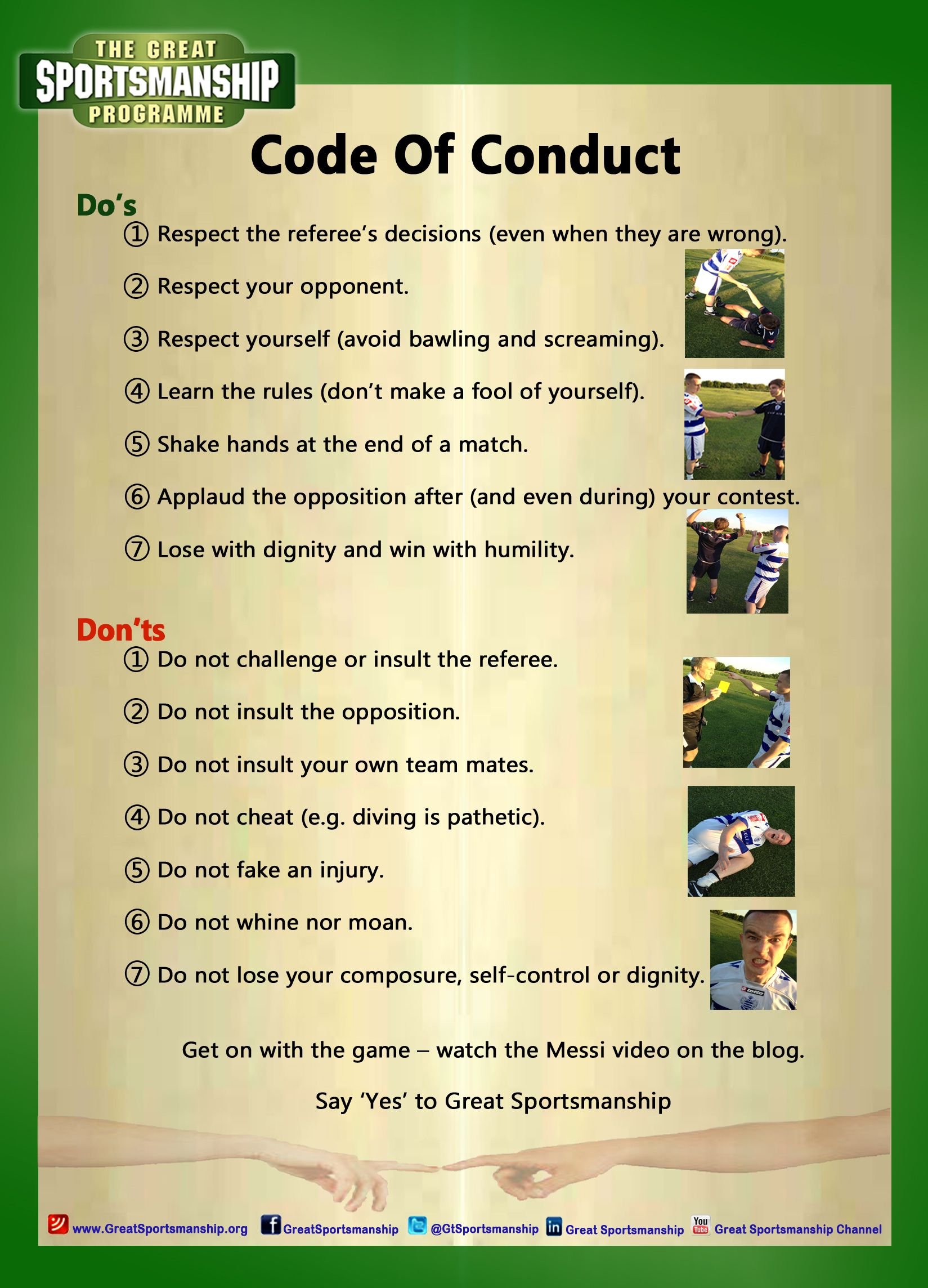 Code Of Conduct For All Sports The 7 Do S And Don Ts