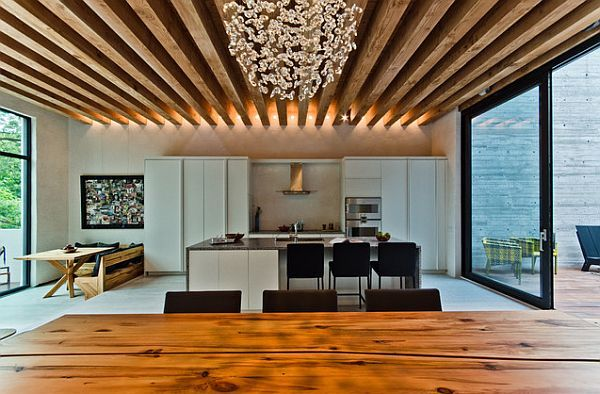 Best Approach of Modern Ceiling Style: Wooden Beams Ceiling In The Kitchen  ~ utasce.