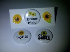 BADGES with placecards for wedding. diamond and pearl theme
