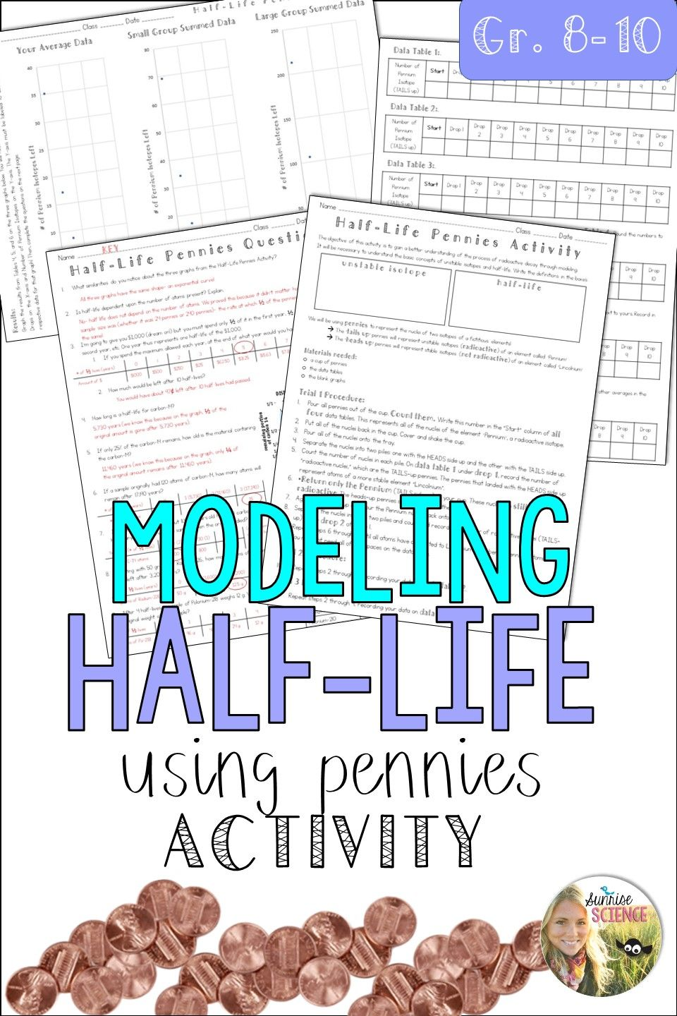 An Engaging Activity To Help Students Understand That Half Life Is Independent Of Quantity This Activity Works Teaching Math Half Life Teaching Middle School