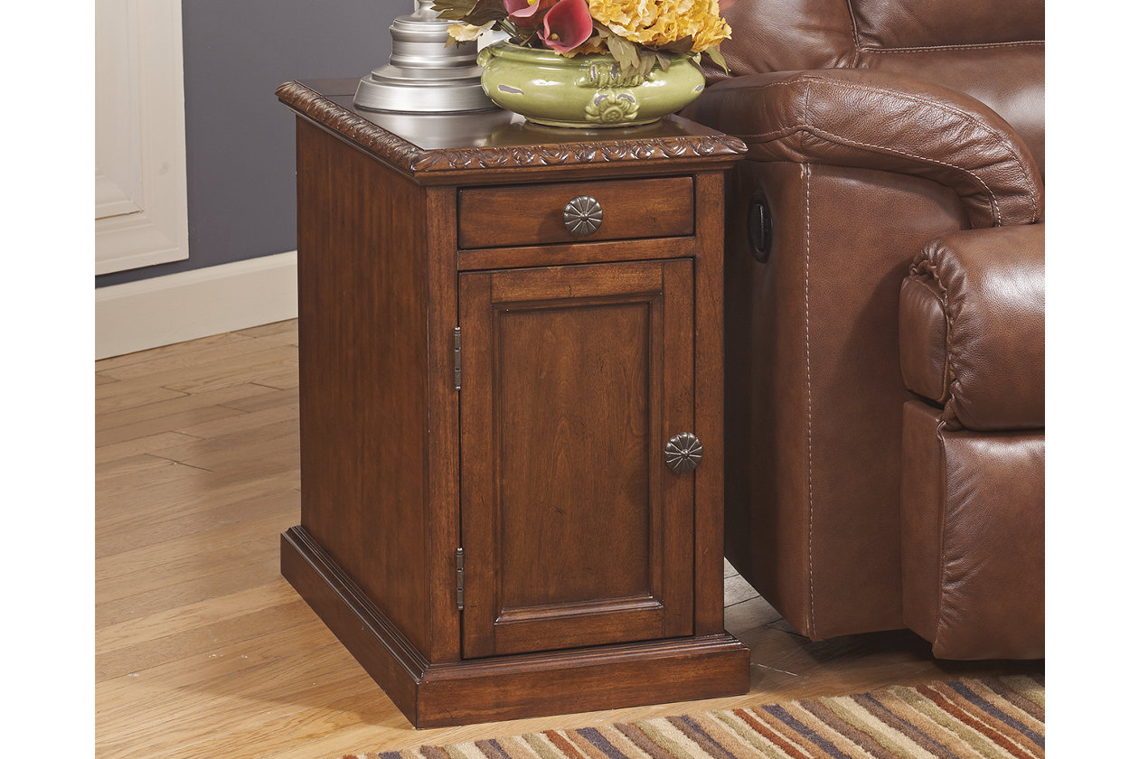 Laflorn Chairside End Table With Usb Ports Outlets With Images